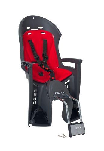 Детское кресло HAMAX SMILEY W/LOCKABLE BRACKET серый/красный, Велокресла - арт. 685400364