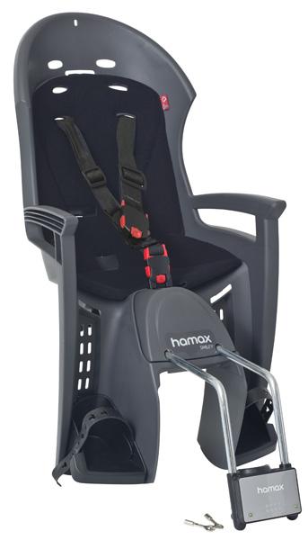 Детское кресло HAMAX SMILEY W/LOCKABLE BRACKET серый/черный, Велокресла - арт. 577860364