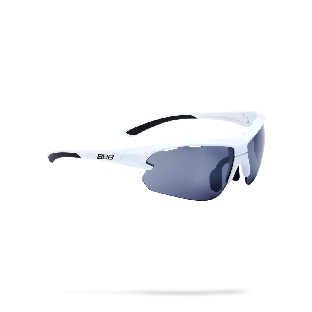 Очки солнцезащитные BBB 2018 Impulse small PC Smoke flash mirror lenses белый, черный, Очки солнцезащитные - арт. 1031580413