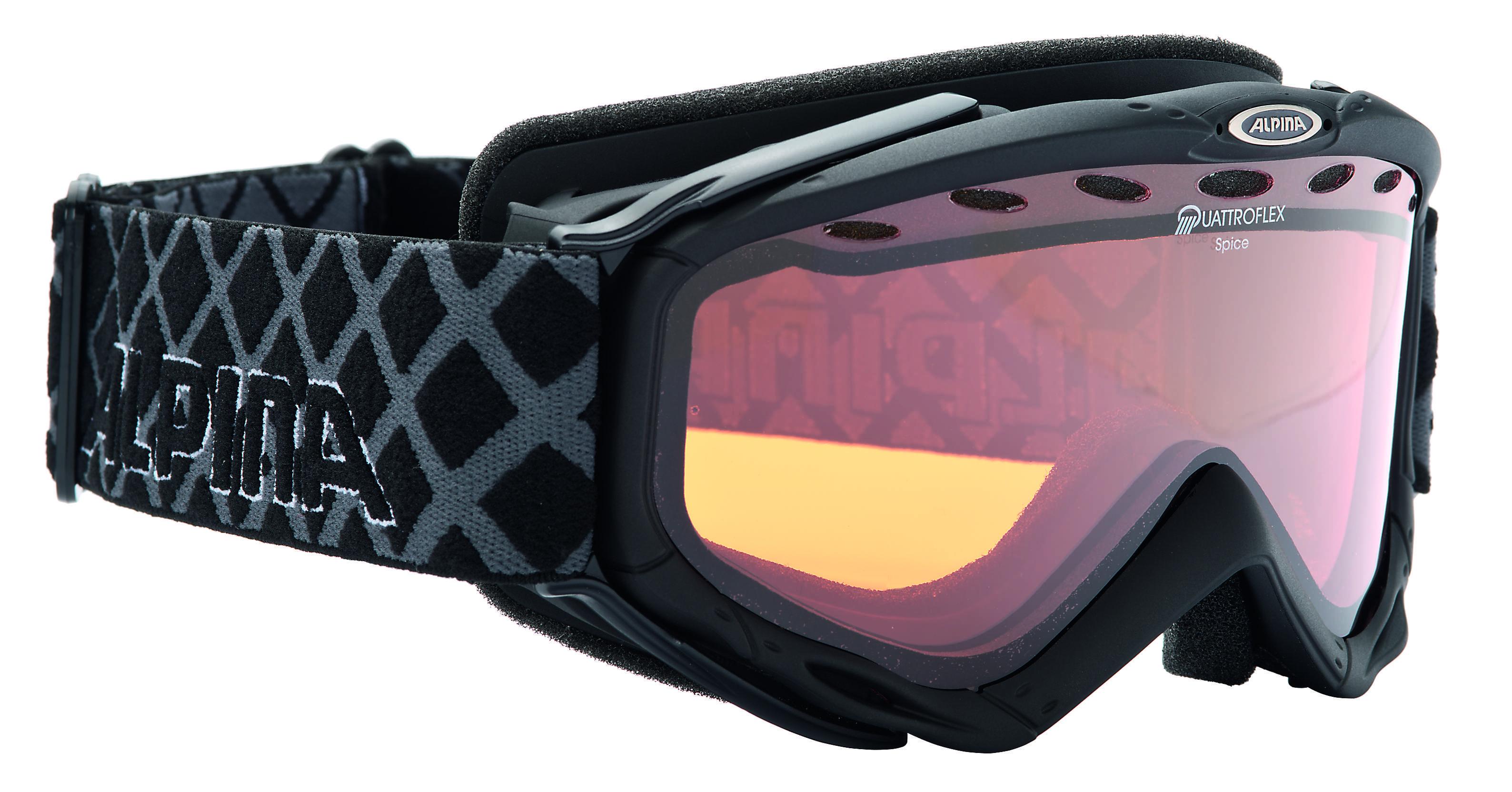 Очки горнолыжные Alpina Spice QH black_QH S2, Горнолыжные очки и маски - арт. 713550418