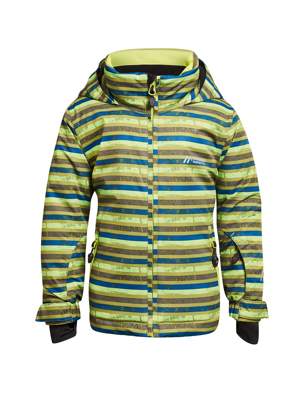 Куртка горнолыжная MAIER 2017-18 Stoormy Kids green/blue allover, Одежда для зимних видов спорта - арт. 1030920410