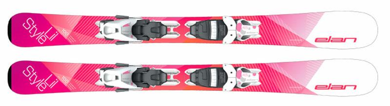 Горные лыжи с креплениями Elan 2017-18 LIL STYLE QS EL 4.5 (см:80)