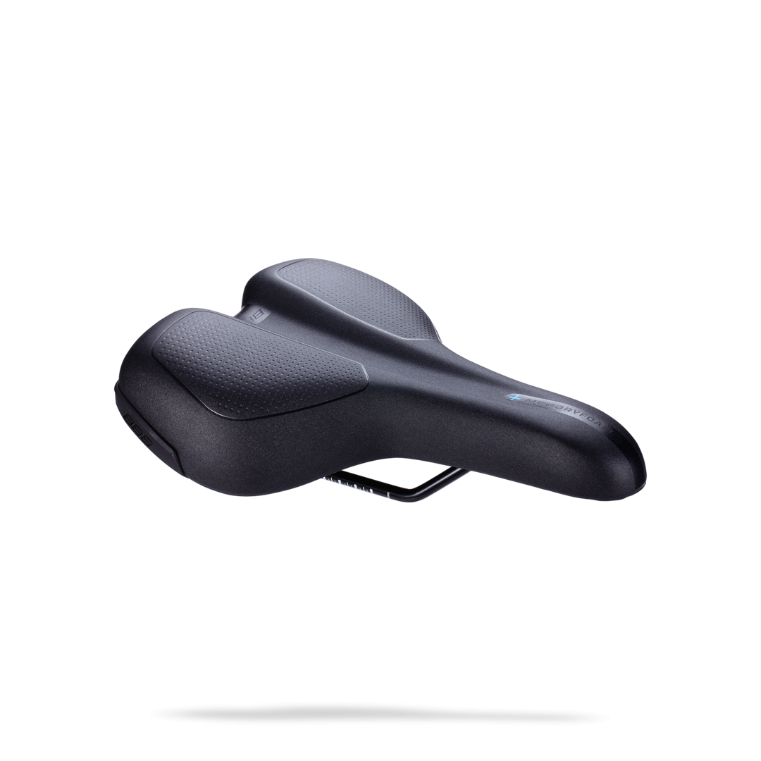 Седло BBB TouringPlus Active ergonomic saddle memory foam steel черный