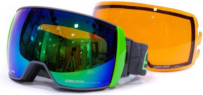 Очки горнолыжные Salice 605DARWF w. Coffre & Spare Lens FUCHSIA/RW BLUE + SONAR (б/р:ONE SIZE), Горнолыжные очки и маски - арт. 969300418