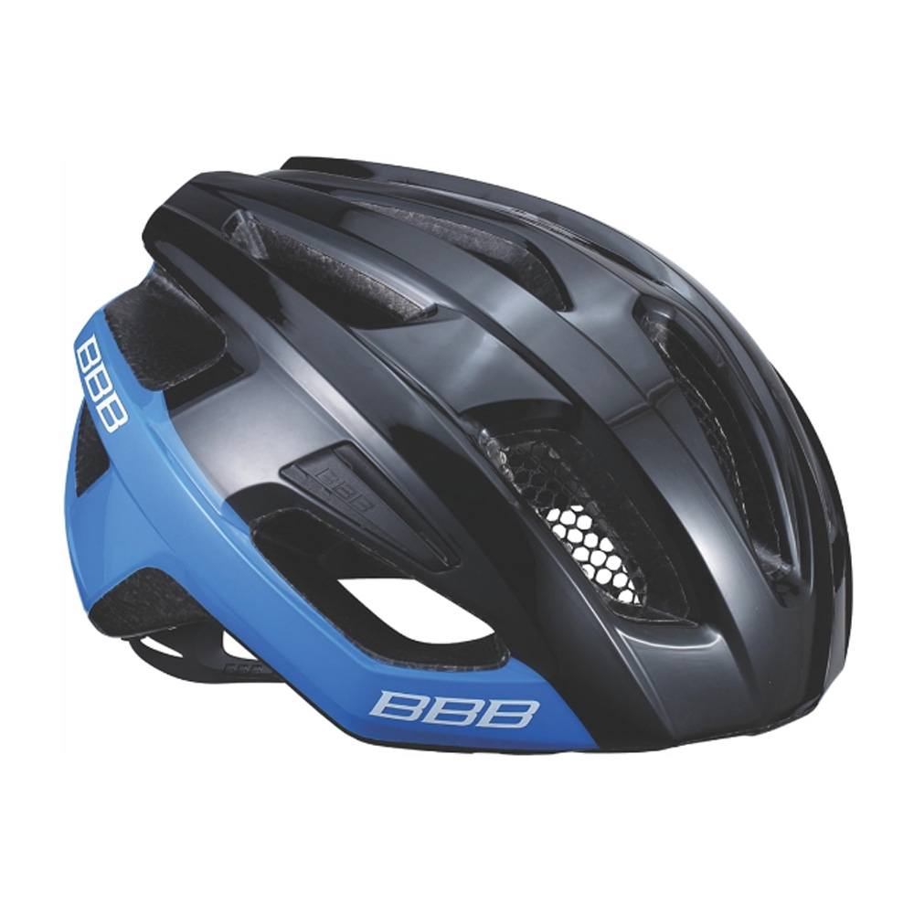 Летний шлем BBB Kite блестящий черный/синий (BHE-29)