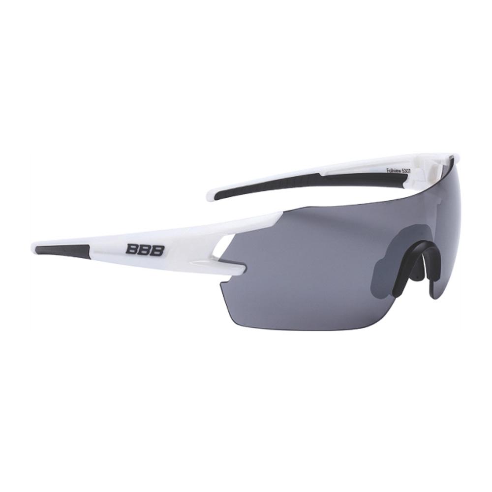 Очки солнцезащитные BBB 2018 FullView PC Smoke flash mirror lens белый, черный, Очки - арт. 1031290161