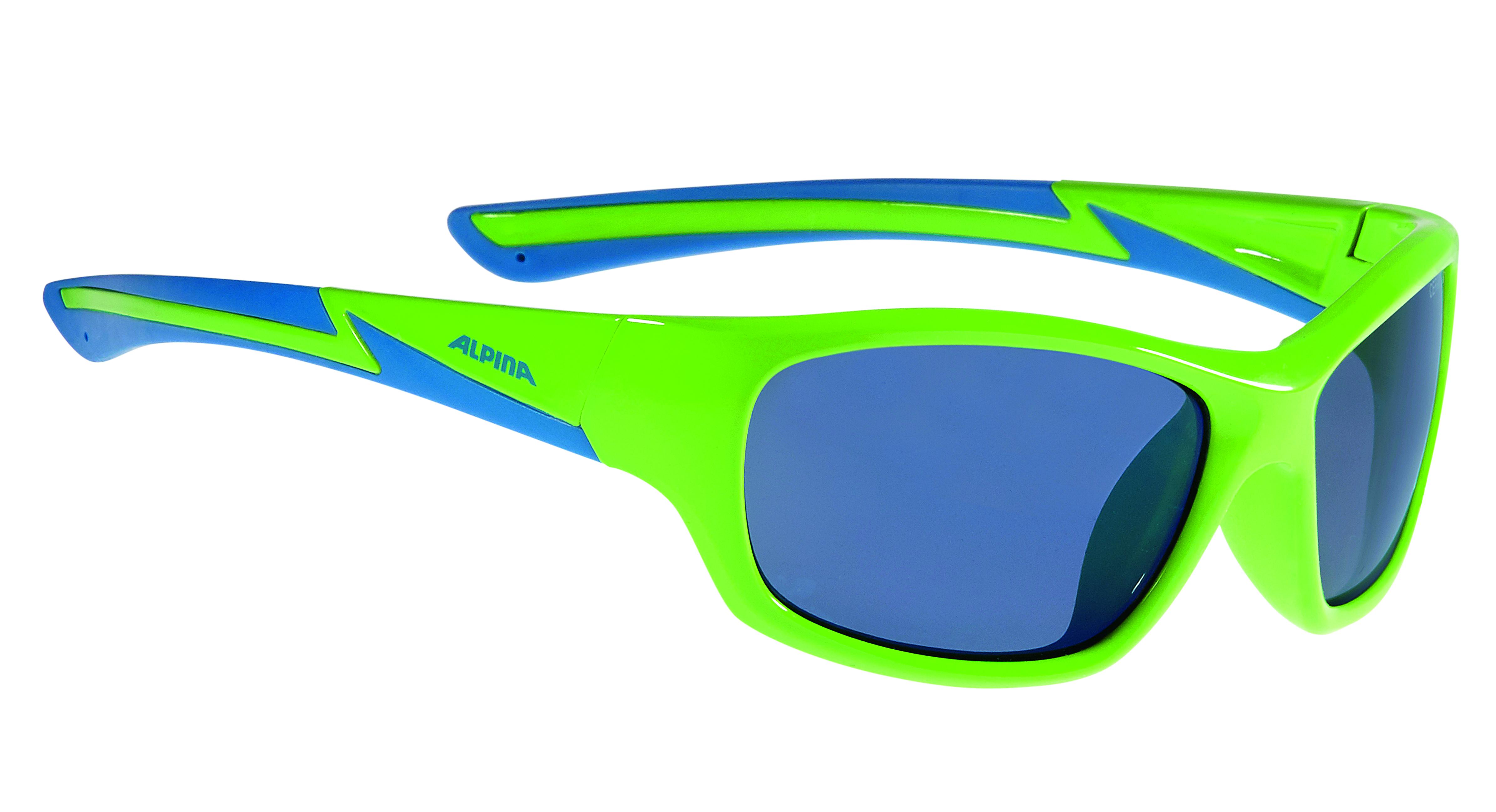 Очки солнцезащитные ALPINA 2017 FLEXXY YOUTH neon green-blue