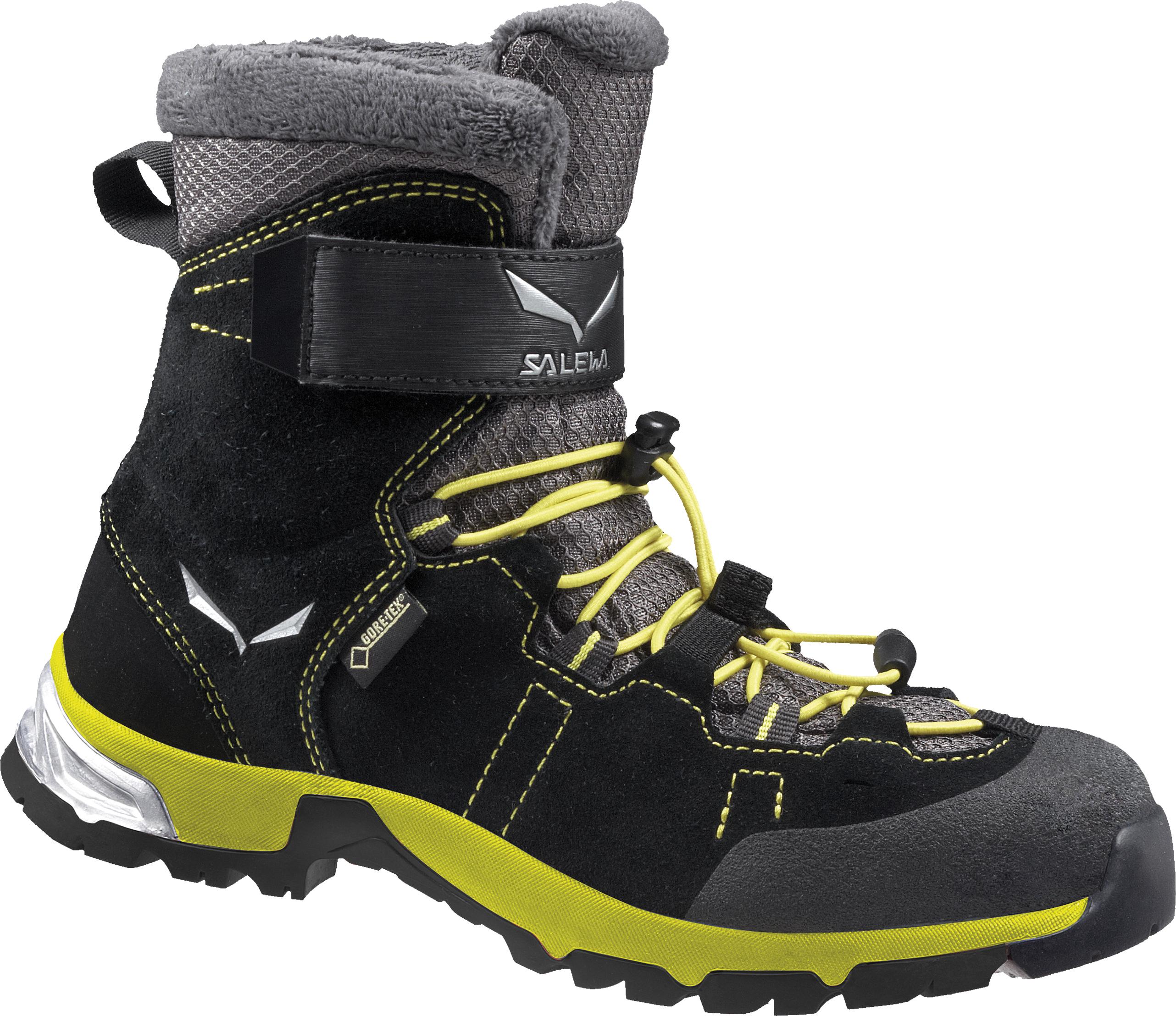 Ботинки городские (высокие) Salewa 2017-18 JR SNOWCAP GTX Black/Yellow, Ботинки - арт. 1004130177