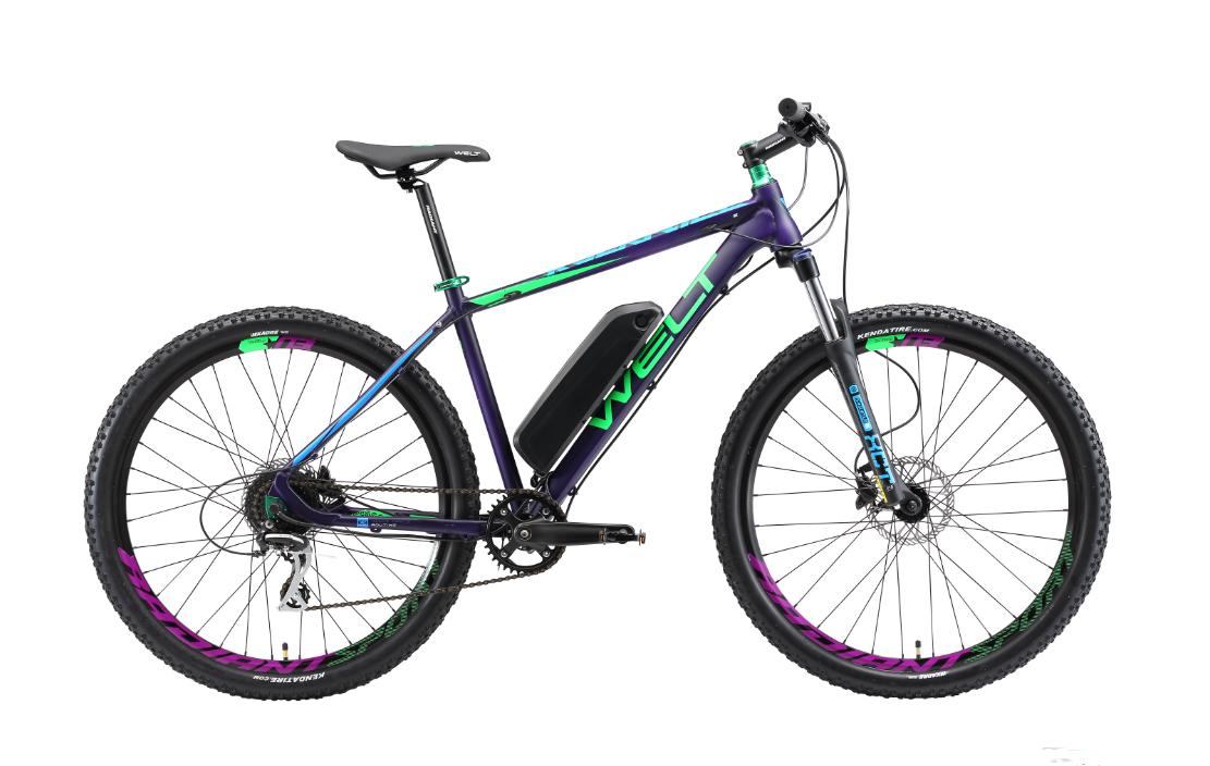 Велосипед Welt 2018 Rockfall 1.0 E-drive matt violet/green/blue, Велосипеды - арт. 1030020390