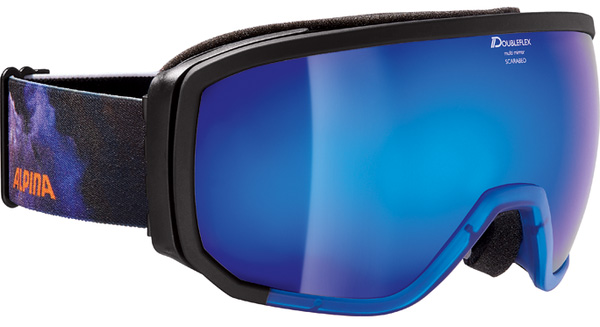 Очки горнолыжные Alpina BIG HORN MM black/green/print (star cluster) (б/р:ONE SIZE), Горнолыжные очки и маски - арт. 970420418