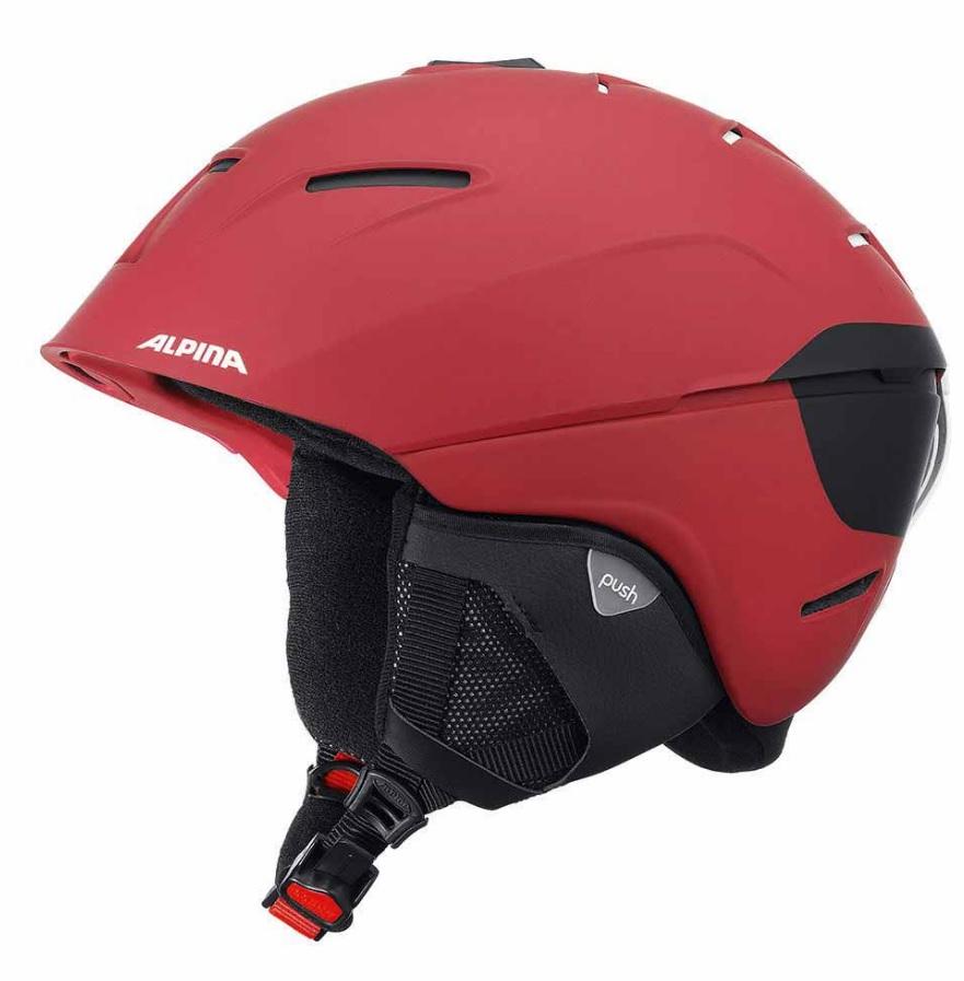 Зимний Шлем Alpina CHEOS deep-red matt (см:55-59) - артикул: 975630428