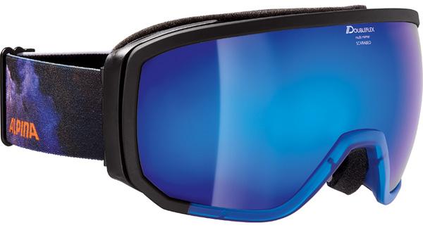 Очки горнолыжные Alpina BIG HORN MM black/blue/orange/print (supernova) (б/р:ONE SIZE), Горнолыжные очки и маски - арт. 970410418