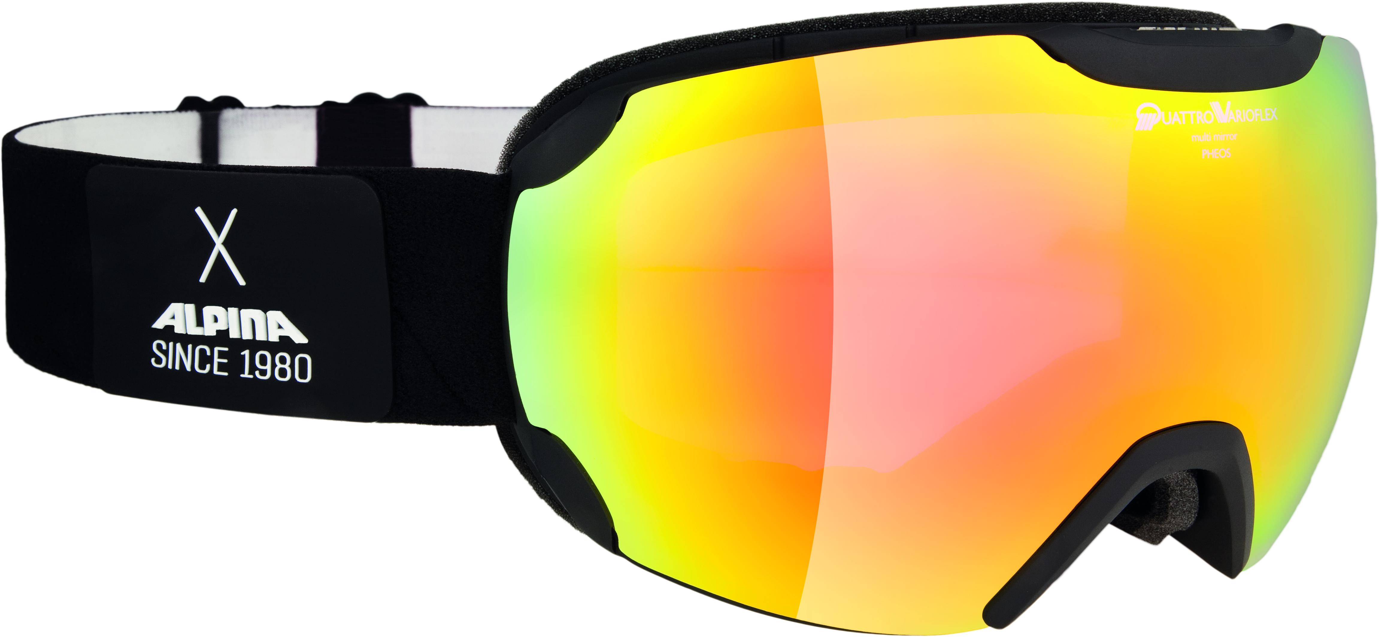 Купить Очки горнолыжные Alpina PHEOS QVMM black matt QV MM red sph. S2 / QV MM red sph. S2 (L50)