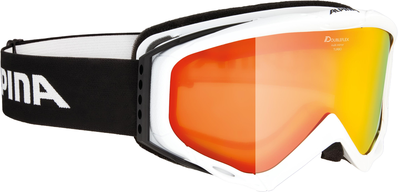 Очки горнолыжные Alpina 2018-19 TURBO HM white MM orange S2 / MM orange S2  - купить со скидкой
