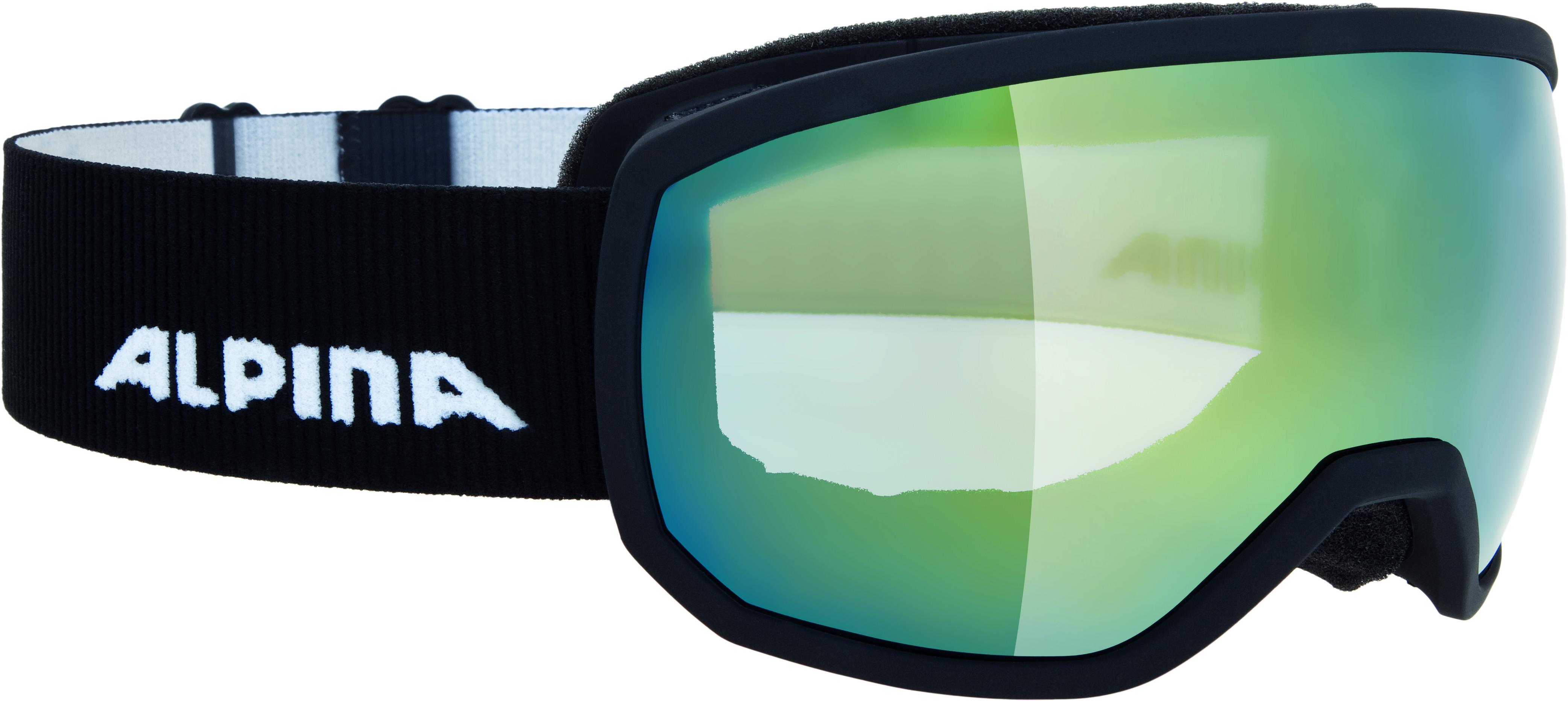 Купить Очки горнолыжные Alpina SCARABEO S MM sph. black matt MM gold sph. S2 / MM gold sph. S2 (S40)