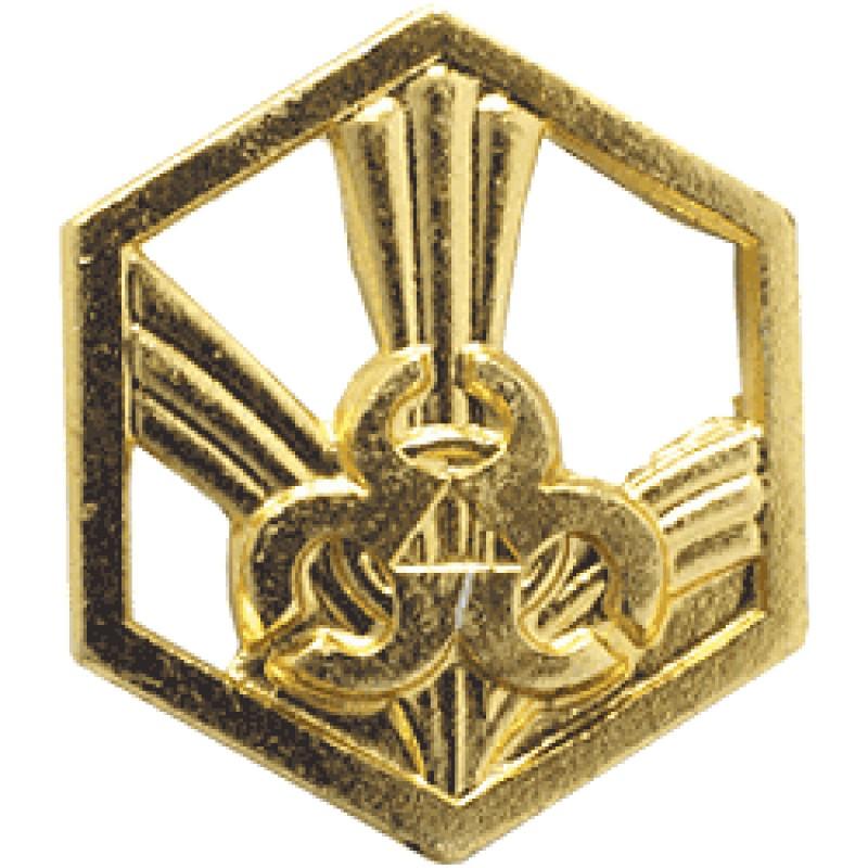 Купить Эмблема петличная РХБЗ нового образца повседневная металл, Компания «Сплав»