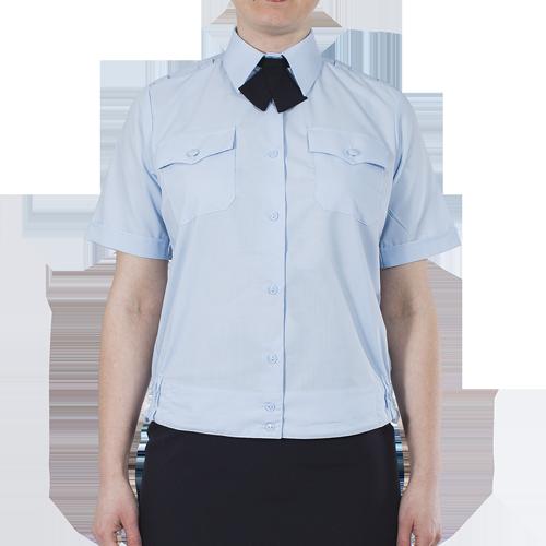 Блуза ПОЛИЦИЯ женская светло-голубая с коротким рукавом на резинке