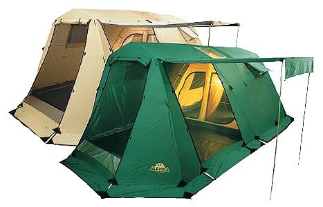 Пятиместная комфортабельная кемпинговая палатка с тремя входами и большим тамбуром Alexika Victoria 5 Luxe зеленый, Палатки 5+местные - арт. 264630323