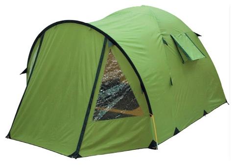 Высокая четырёхместная кемпинговая палатка KSL Campo 4 зеленый, Палатки четырехместные - арт. 276810322