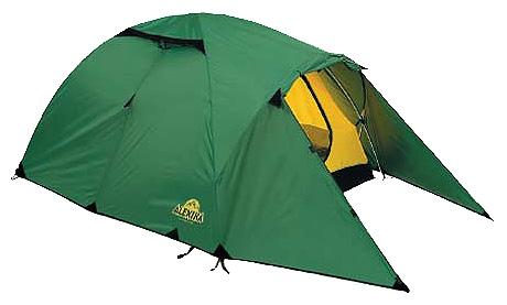 Купить Трехместная туристическая палатка с повышенной ветроустойчивостью Alexika Nakra 3 зеленый