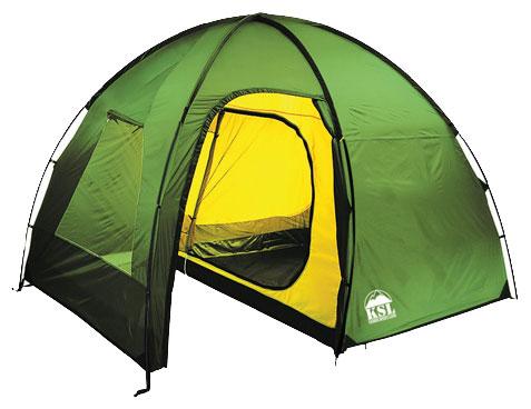 Четырехместная высокая палатка с большим тамбуром KSL Rover 4 зеленый, Палатки четырехместные - арт. 279230322
