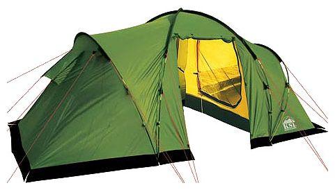 Четырехместная кемпинговая палатка с двумя спальнями и большим тамбуром KSL Macon 4 зеленый, Палатки четырехместные - арт. 281990322