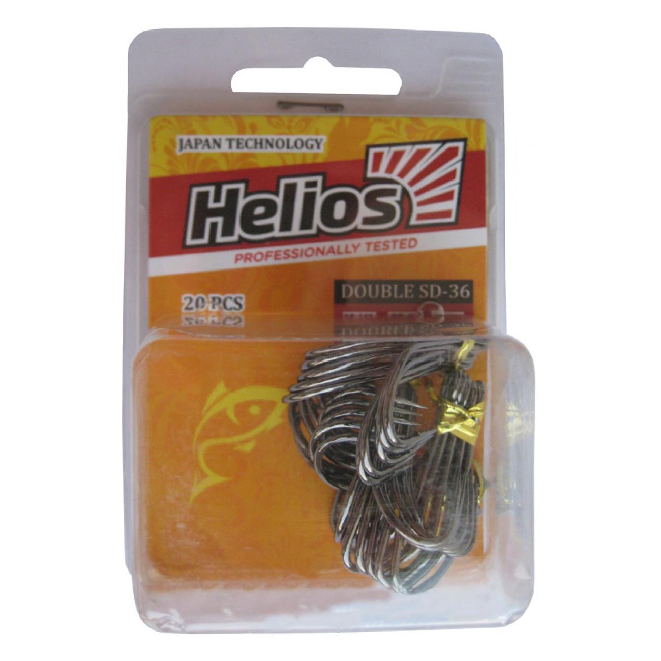 Купить Крючок двойной SD-36 №2/0 цвет BC (20шт) Helios