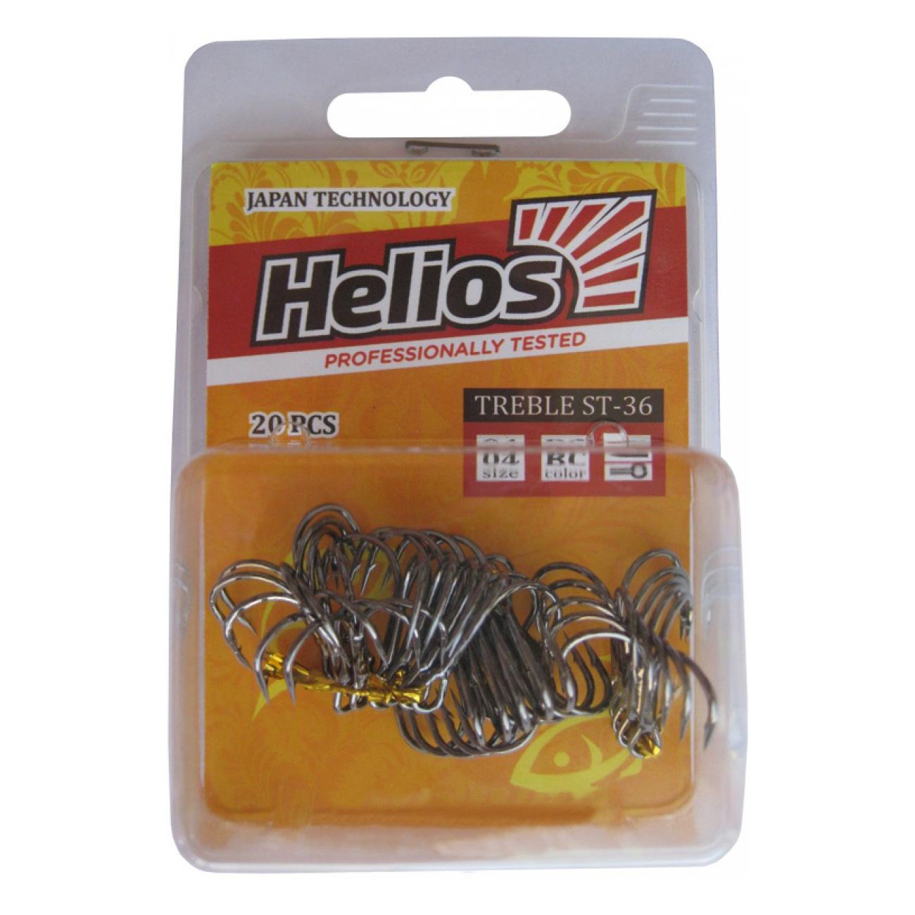Купить Крючок тройной ST-36 №14 цвет BC (20шт) Helios