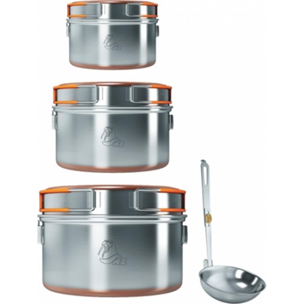 Набор посуды из 3-х кастрюль 0,9-1,5-2,4 л SS-006, Посуда - арт. 1037720196