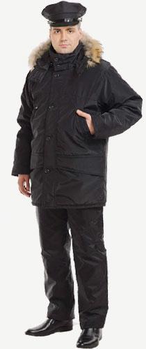 5201 куртка мужская Аляска с натуральный мехом п/а