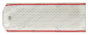 Погоны МО Рядовой красный кант на белую рубашку