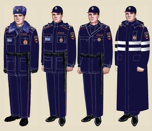 Полицейская форма нового образца пилотка