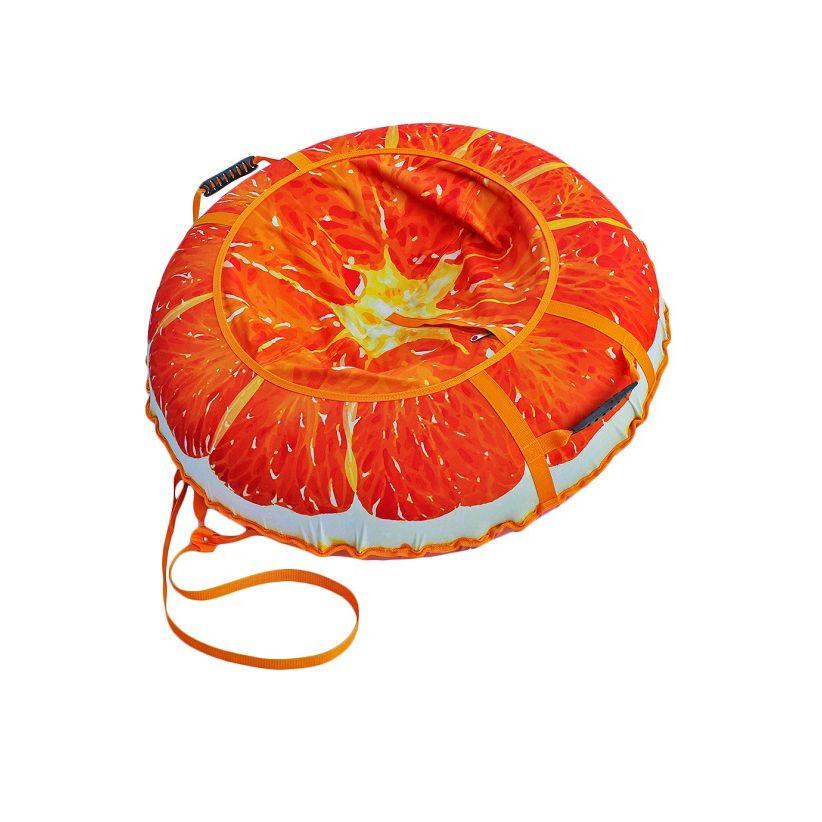 Санки-ватрушка тюбинг Митек Сочный апельсин 110 см, Санки, тюбинги - арт. 974720437