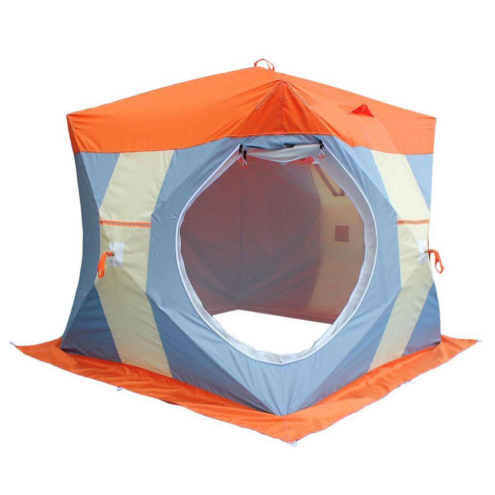 Палатка для зимней рыбалки Нельма Куб 2 с внутренним тентом