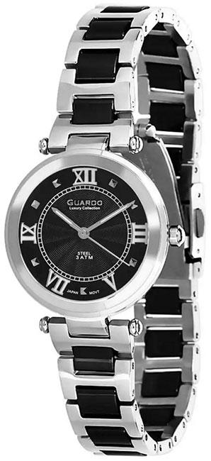 Купить Наручные часы женские Guardo S01948.1 чёрный, Форма одежды