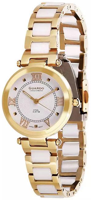 Купить Наручные часы женские Guardo S01948.6 белый, Форма одежды