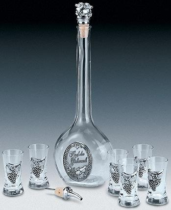 Набор для водки Поздравление 8 предметов Artina SKS 15167