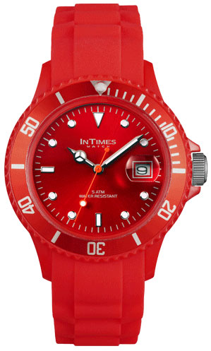 Купить Наручные часы унисекс InTimes IT-044 Dark Red