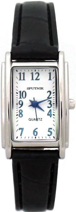 Женские наручные часы Спутник Л-200890/1 (бел.,син.оф.) ч.р.