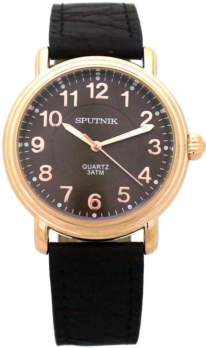 Мужские наручные часы Спутник М-858040/8 (корич.)