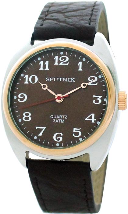 Мужские наручные часы Спутник М-858080/6 (корич.)