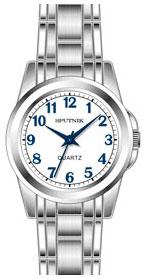 Женские наручные часы Спутник Л-800090/1 (бел.,син.оф.)