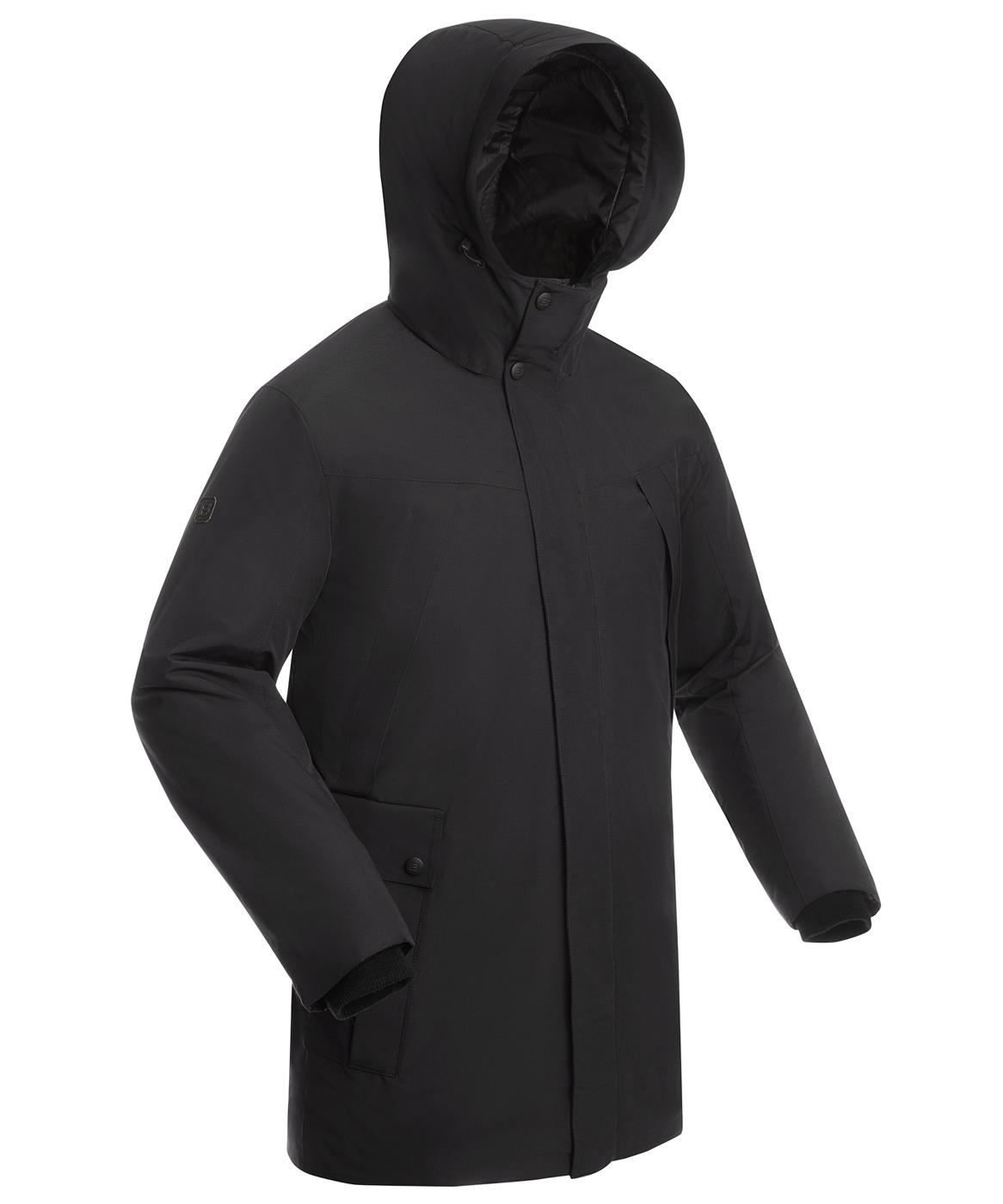Купить Пальто утепленное мужское BASK MARS черное, Компания БАСК