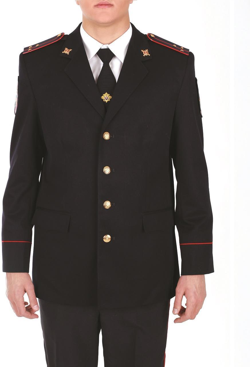 Китель Полиция мужской полушерсть, Форменные куртки и плащи - арт. 1019340331