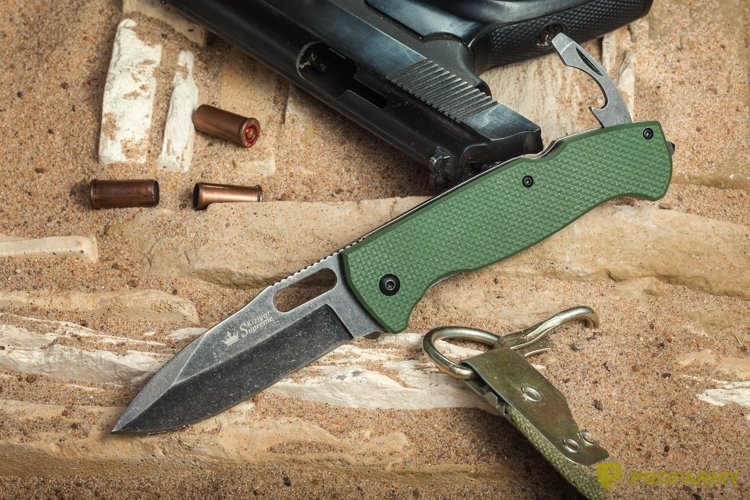 Нож Ute 440C Stonewash Green G10 handle зеленый, Ножи - арт. 1066890159
