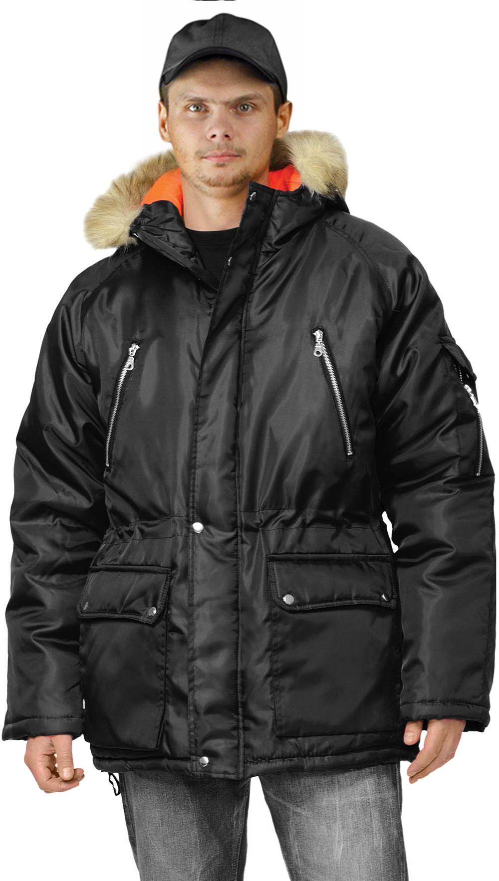 Купить Куртка зимняя АЛЯСКА удлиненная цвет: черный, Ursus