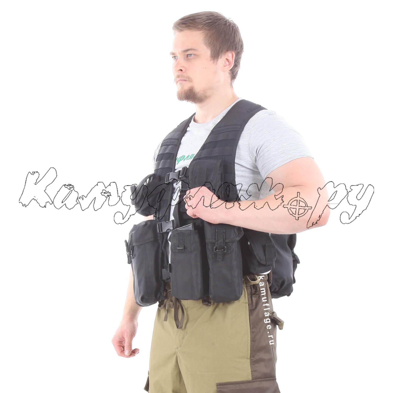 Жилет KE Скорпион с патрульными подсумками черный, Жилеты - арт. 990890184