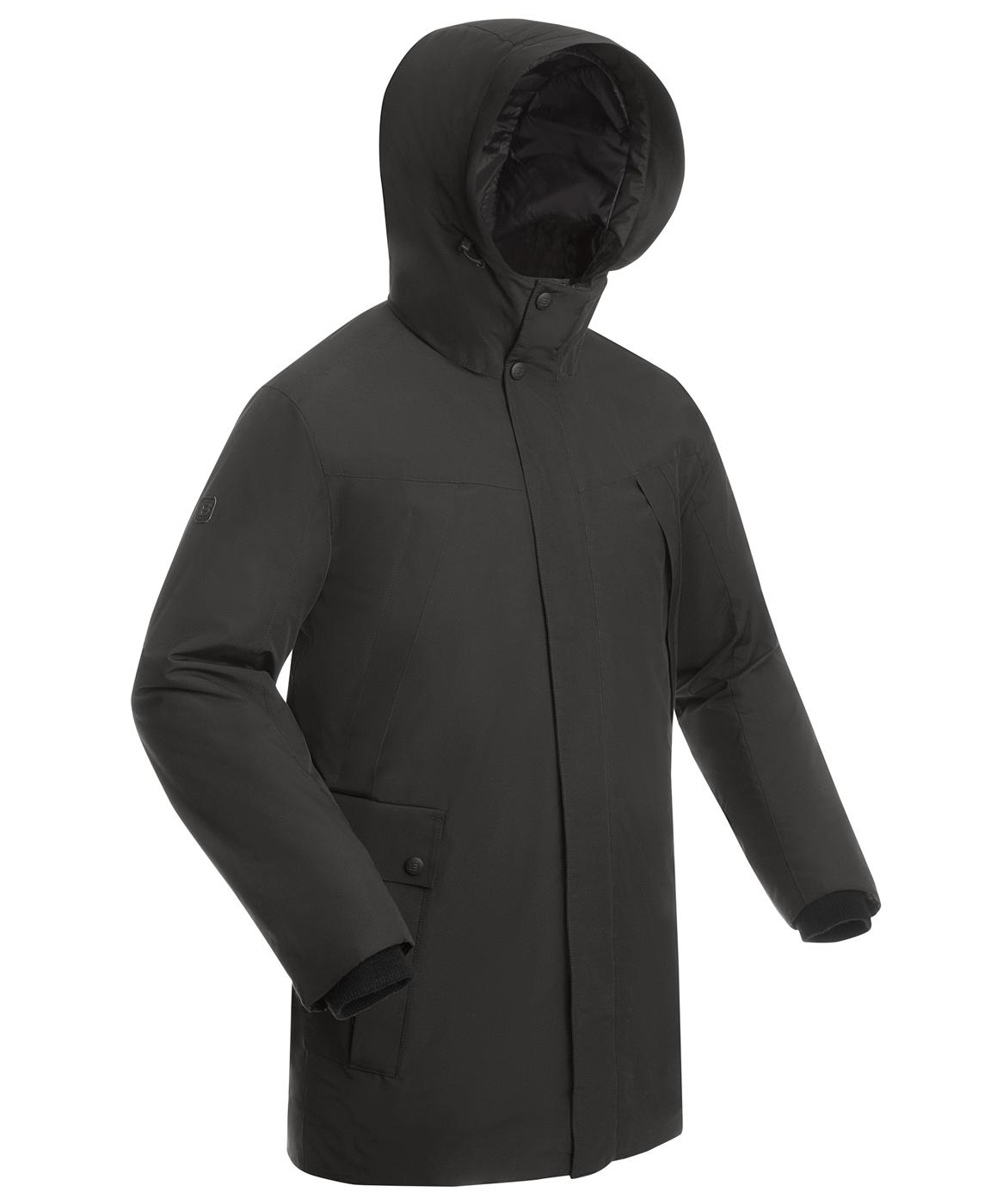 Купить Пальто утепленное мужское BASK MARS серый тмн, Компания БАСК