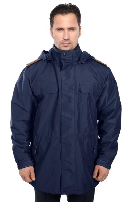 Куртка демисезонная под офисную форму ВВС-ВДВ воротник на стойке (рип-стоп/синяя) - артикул: 495530331