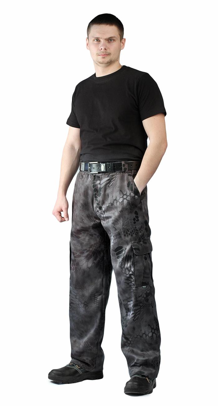 Брюки мужские Захват, камуфляж, ткань Грета Питон чёрный